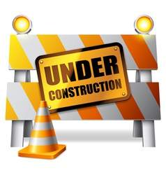 Under construction barrier vector