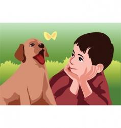 Puppy love vector