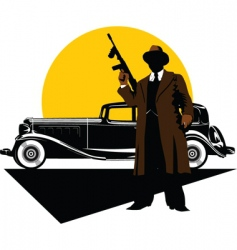 Gangster car vector