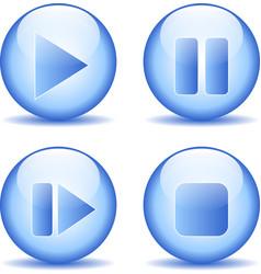 Elements buttons set vector