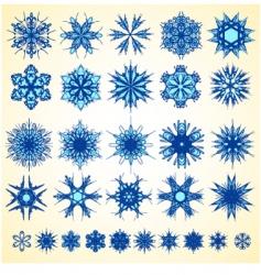 Snowflake design collection vector