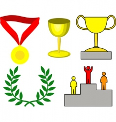 Victory icons vector