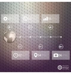 Infographic template for business design hexagonal vector