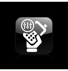 Phone levels icon vector