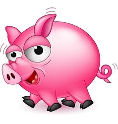Funny pig cartoon vector