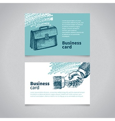 Sketchy business card vector