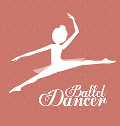 Ballet dance design vector
