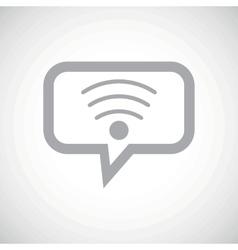 Wi-fi grey message icon vector