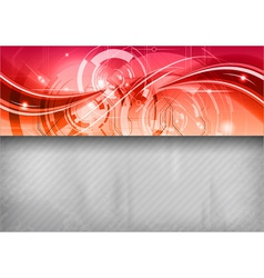 Tech background line top red vector