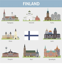 Finland symbols of cities vector