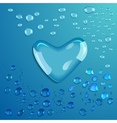 Waterdrop heart vector