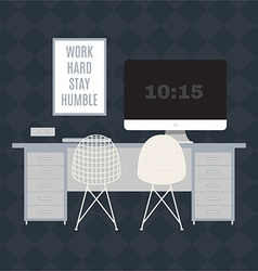Modern office workspace vector