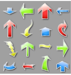Different arrows in various colors vector