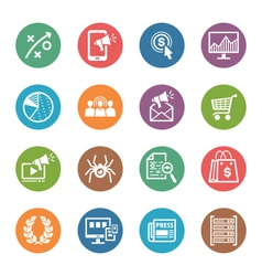 Seo internet marketing icons set 3 - dot series vector