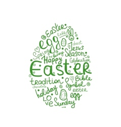Easter egg sketch for your design vector