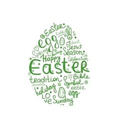 Easter egg sketch for your design vector