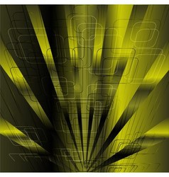 Abstract business science or technology green rays vector