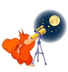 Squirrel astronomer vector