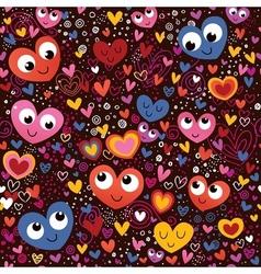 Cute hearts pattern vector