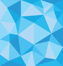 Abstract blue polygonal pattern on the wall vector