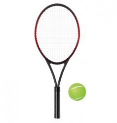 Tennis racket and ball vector