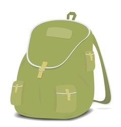 Schoolbag backpack on a white background vector