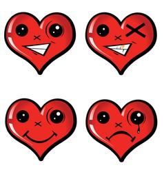 Set emotional hearts vector