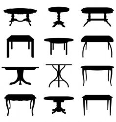Tables set vector