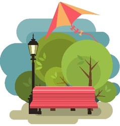 Bench for rest vector