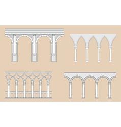 Arcades - roman gothic vector