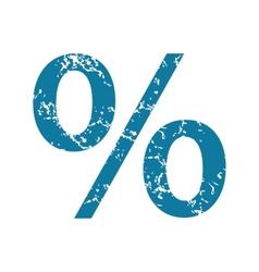 Percent grunge icon vector