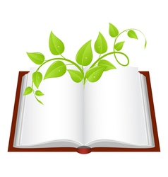 Nature book vector