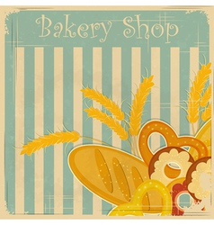 Cover menu for bakery vector