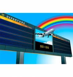 Airport departure board vector