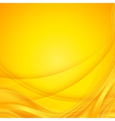 Abstract shining yellow wavy background vector