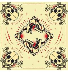 Skull frames vector