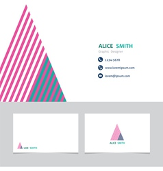 Business card template with a letter a vector