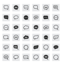 Black and line speech bubble icons vector