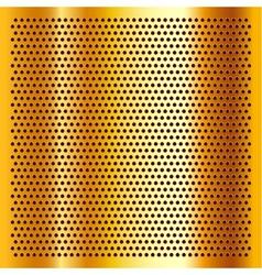 Golden perforated sheet vector