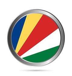 Seychelles flag button vector