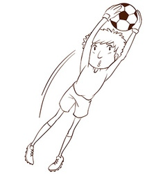 A simple sketch of a soccer player vector