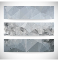Set of abstract backgrounds molecule structure vector