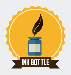 Ink bottle design vector