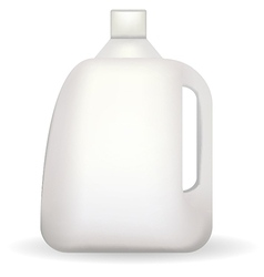 White plastic bottle vector