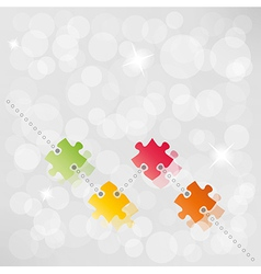 Puzzle path background vector