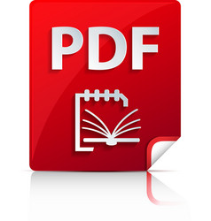 Embossed pdf file icon vector