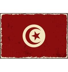 Tunisian grunge flag vector