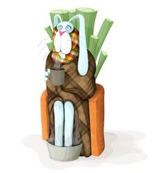 Sick rabbit vector