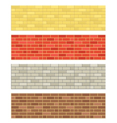Brick wall textures vector