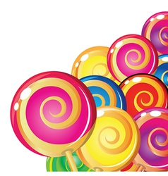 Lollipop background vector